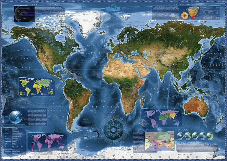 Puzzle Satellite Map online kaufen